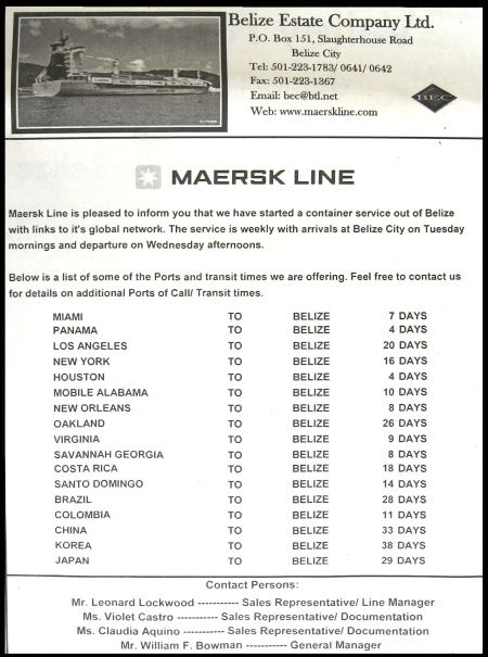 Newspaper Ad for Maersk Line
