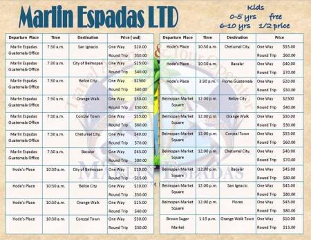 Marlin Espadas Schedule 20160325